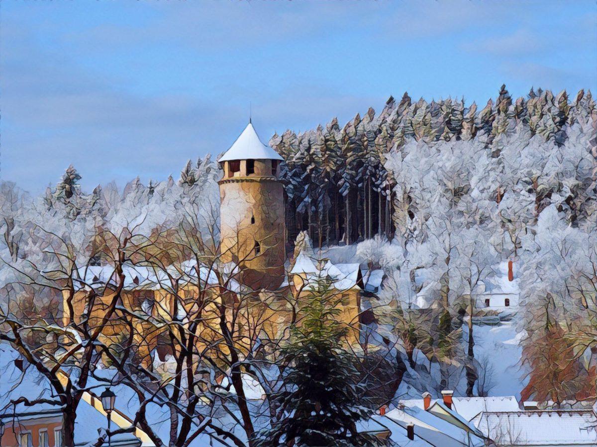 Burgen, Schnee und Jahreswechsel